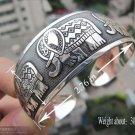German Silver Bracelet. Design: Happy Elephants #34