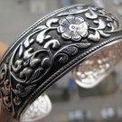 German Silver Bracelet. Design: Flowers & Vines #33