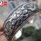 German Silver Bracelet. Design: Scrolled Flowers  #22