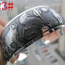 German Silver Bracelet. Design: Loving Tigers #23