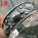 German Silver Bracelet. Design: Raising Turtles #11
