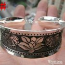 German Silver Bracelet. Design: Flowers #03