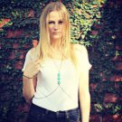 Body Chain Turquoise - Adjustable- Silver