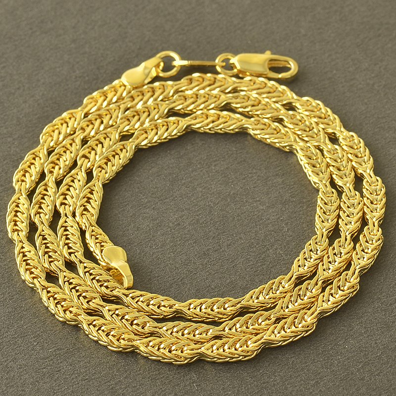 """19.3"""" 9K Yellow Gold Filled Snake Chain Necklace Unisex"""