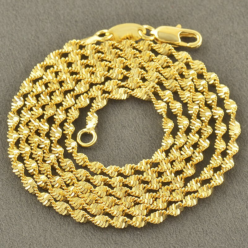 """24"""" 9K Gold Filled Wave Chain / Necklace"""