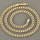 "19.5"" 9K Solid Gold Filled EMBOSSED Unisex Links Chain Necklace"