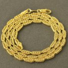 "19"" 9K Yellow Gold Filled Snake Chain Necklace"