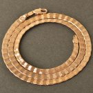 "20"" 9K Rose Gold Filled Snake Unisex Chain Necklace"