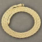 "20"" EMBOSSED  Yellow Gold Filled Snake Chain Necklace"