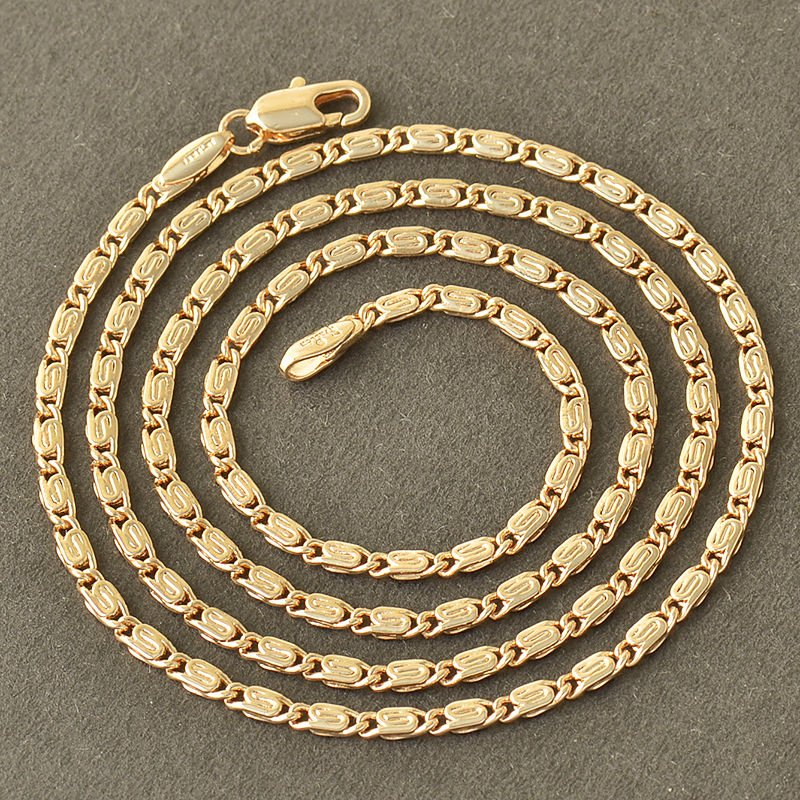 """18"""" 9K. Yellow Gold Filled Chain Link Necklace"""