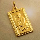 9K. Handsome Patterned Monkey Zodiac  Unisex Pendant