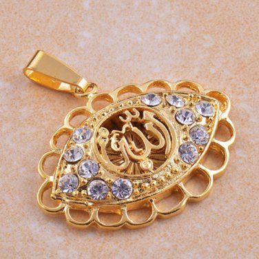 9K Gold Filled Clear CZ Artistic Pendant
