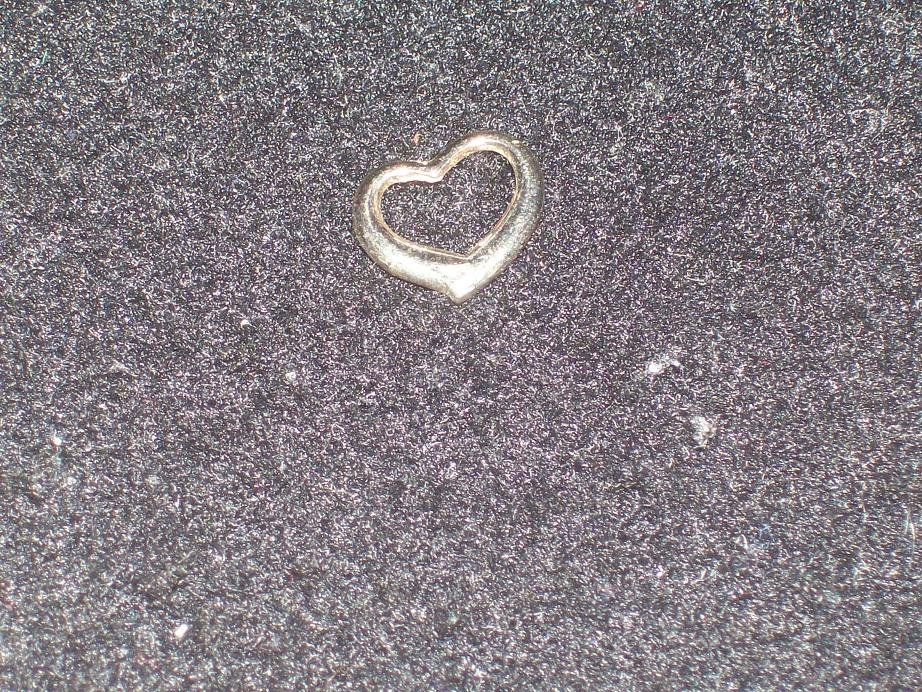 .925 Sterling Silver Heart Charm / Pendant