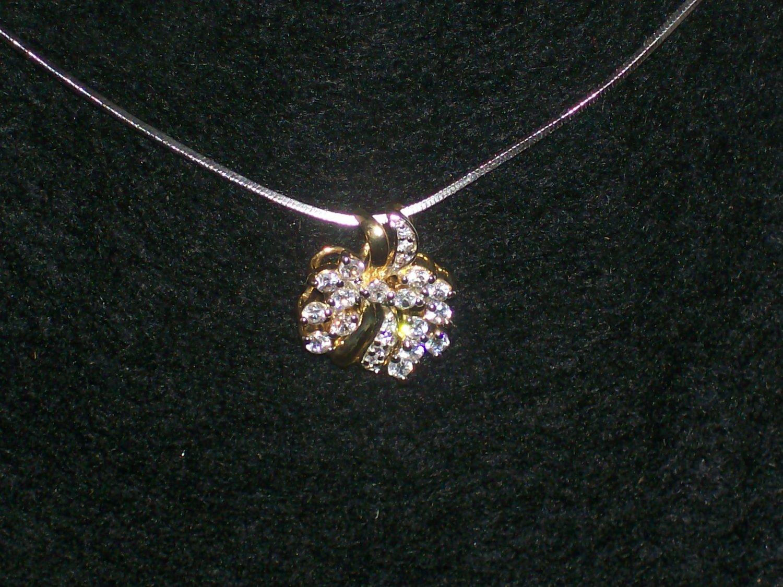 Genuine Diamond 14k & .925 Sterling Silver Heart Pendant