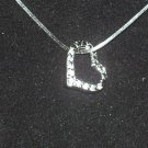 Genuine Diamond .925 Sterling Silver Heart Pendant & Necklace
