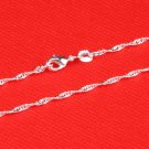 "16"" Italian .925 Sterling Silver Wave Chain"