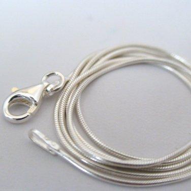 "18"" Italian .925 Sterling Silver Snake Chain"