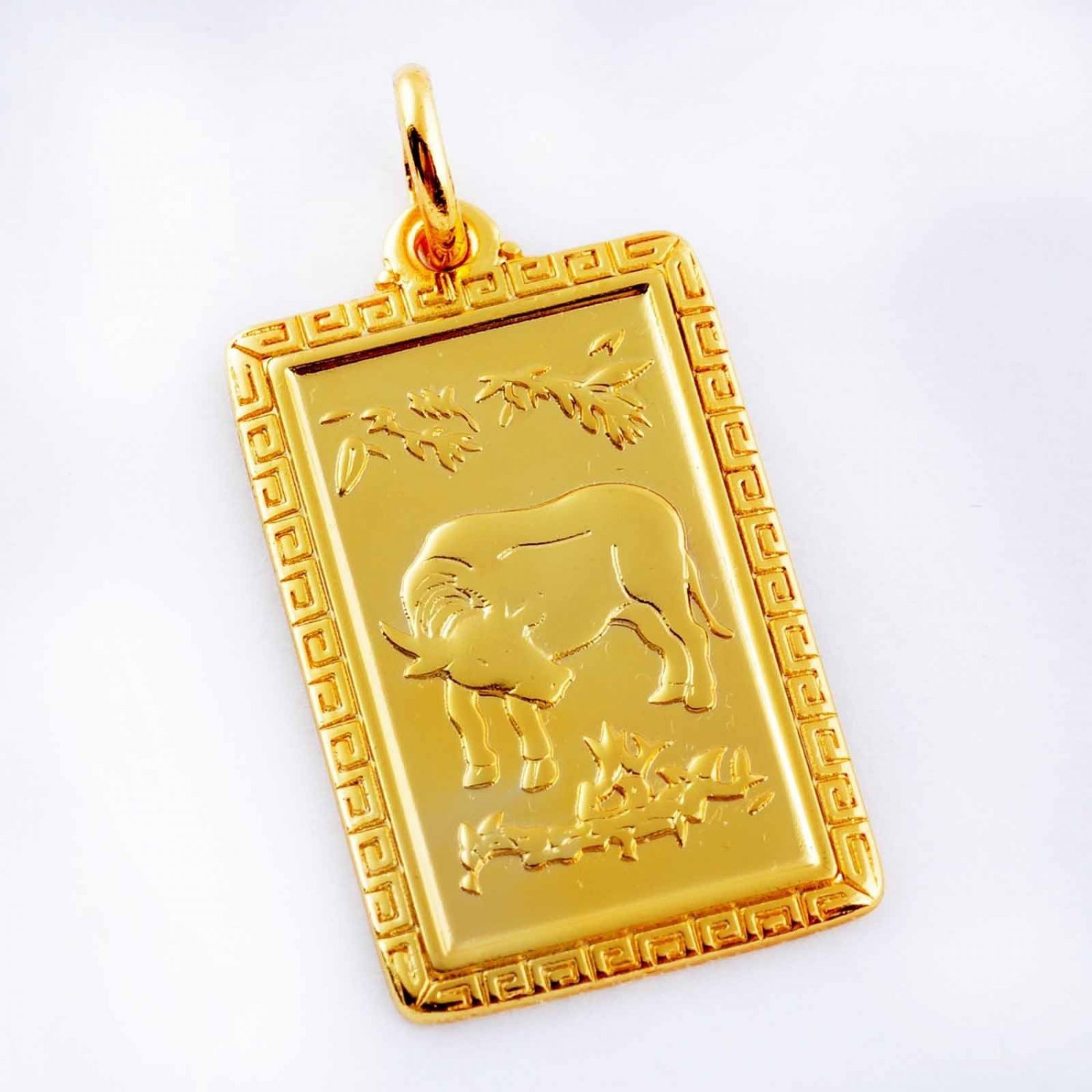 Handsome Patterned OX Zodiac  Unisex Pendant