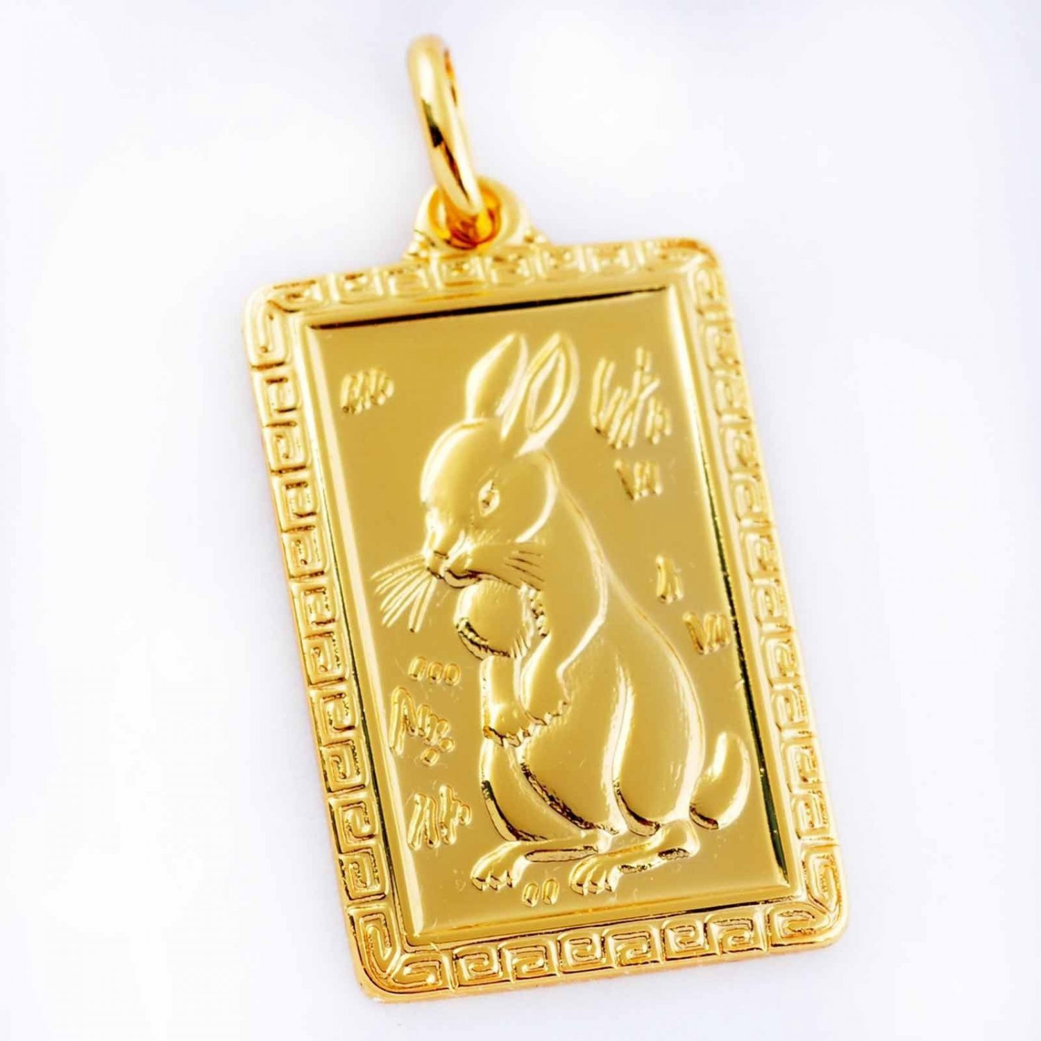 Handsome Patterned Hare Zodiac  Unisex Pendant