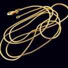 """28"""" 18K Gold Filled Unisex Snake Chain  Necklace"""