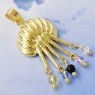 9K Gold Filled Crystal Pendant & Earring Set