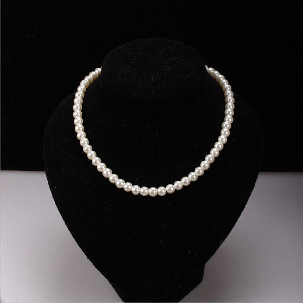 AAAA Newest Fashion Elegant White 8mm Akoya Pearl Necklace 18""