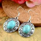 Natural Turquoise Silver Hook Earrings