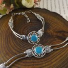 Country Dance Silver Turquoise Bracelets