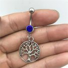 Tree Of Life Crystal Navel Belly Ring - 2 Colors