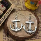 Sterling Silver Anchor & Chain Earrings