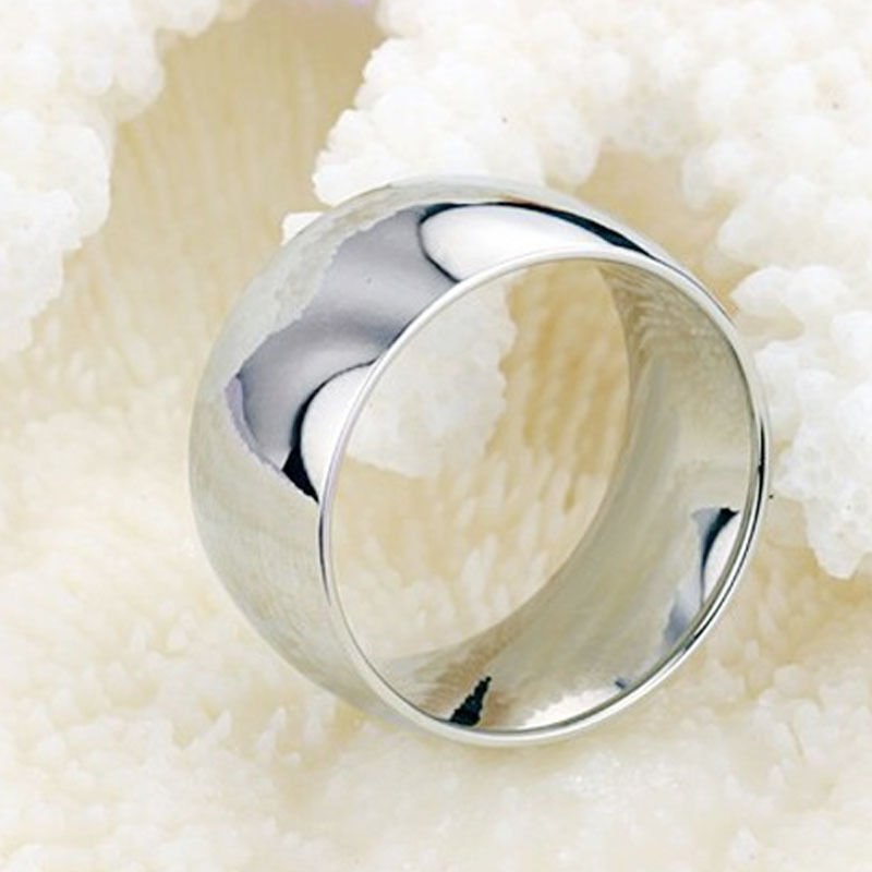 916L Stainless Steel Silver Unisex Wedding Ring