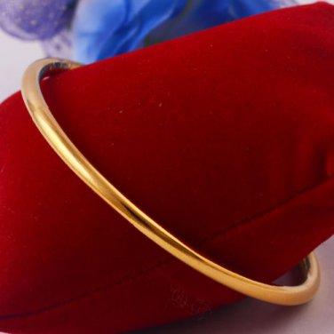 """Sparking 14K Yellow Gold Filled Bracelet Bangle Inner Dia 2.36"""""""