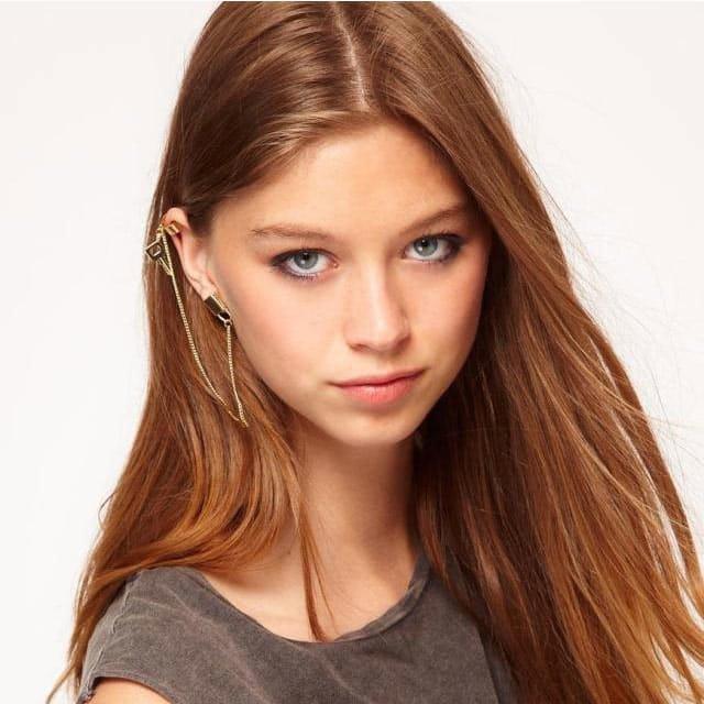 Gold Lock & Key Ear Cuff