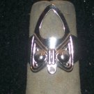 SILVER FASHION FINGER NAIL TIP RING