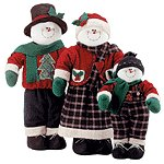 Fabric Snowman Family Set