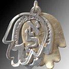 Beautiful Kabalistic Hamsa Pendant  #70025