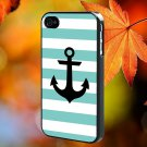 Mint Green Anchor for iPhone 4/4S,5,5c,5s & samsung galaxy S3,S4,S5 Case Hard Plastic Cover