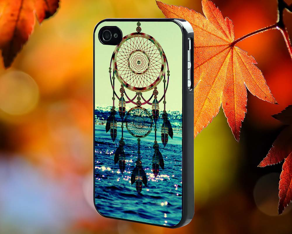 dreamcatcher sea for iPhone 4/4S,5,5c,5s & samsung galaxy S3,S4,S5 Case Hard Plastic Cover