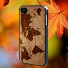 WORLD MAP for iPhone 4/4S,5,5c,5s & samsung galaxy S3,S4,S5 Case Hard Plastic Cover