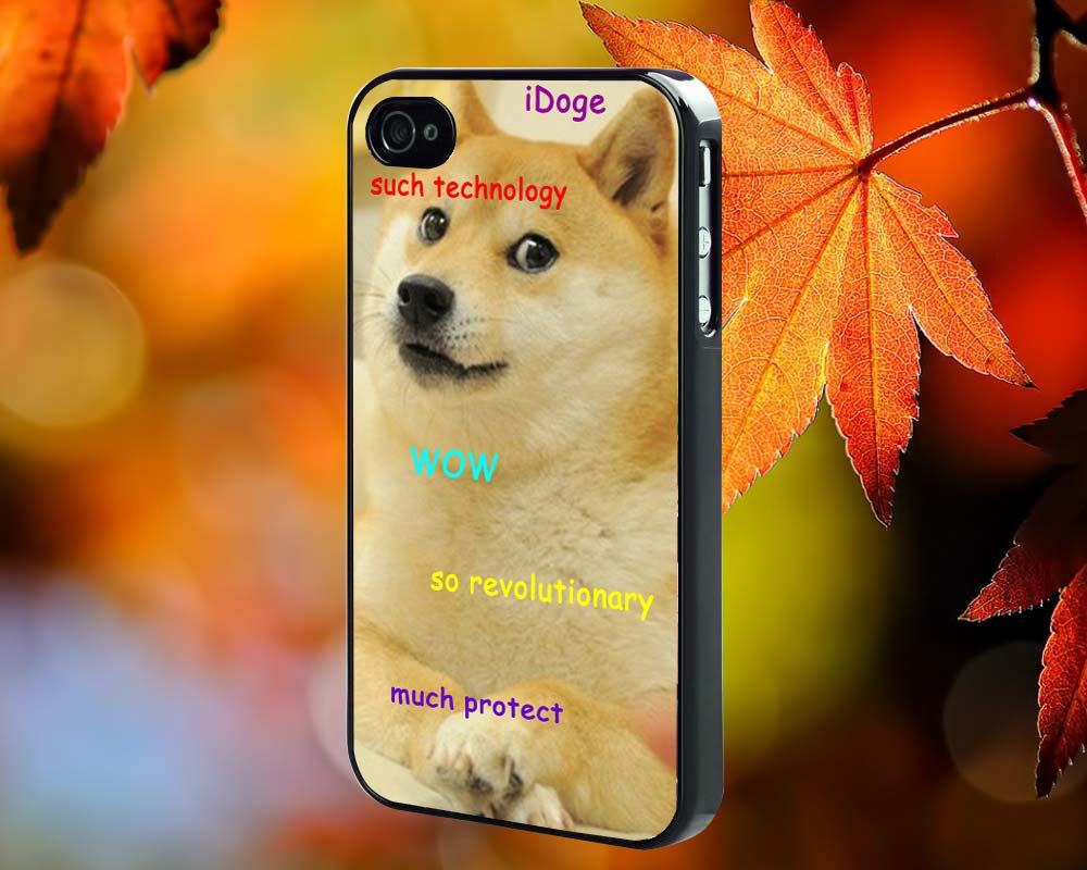 dog i doge for iPhone 4/4S,5,5c,5s & samsung galaxy S3,S4,S5 Case Hard Plastic Cover