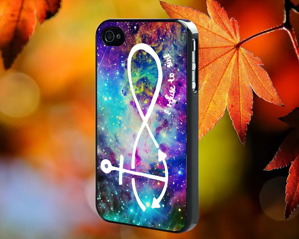 Infinity Anchor Nebula  for iPhone 4/4S,5,5c,5s & samsung galaxy S3,S4,S5 Case Hard Plastic Cover