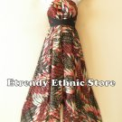 1D93 - Versatile Silk Multi Wear Scarf Long Maxi Dress Skirt