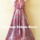2D66 - Versatile Silk Multi Wear Scarf Long Maxi Dress Skirt