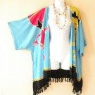 Blue Gecko Plus Size Cardigan Duster Jacket Kimono Cover up - 2X, 3X, 4X & 5X
