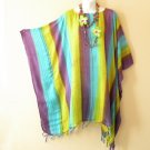 NWT Multicolor Stripe Plus Size Caftan Kaftan Tunic Blouse Top - 2X, 3X, 4X & 5X