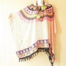 NWT Plus Size Gypsy Princess Caftan Kaftan Tunic Blouse Top - XL, 1X, 2X & 3X