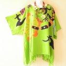 NWT Green Kimono Plus Size Caftan Kaftan Hippy Tunic Blouse Top -2X, 3X, 4X & 5X