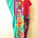 Floral Plus Size Batwing Caftan Kaftan Tunic Hippy Maxi Dress - L, XL, 1X & 2X