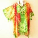 KB410 Tie Dye Batik Kimono Plus Size Caftan Kaftan Tunic Blouse Top - up to 5X