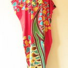 Abstract Plus Size Batwing Caftan Kaftan Maternity Hippy Maxi Dress - Up to 1X